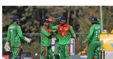 प्रधानमन्त्री कप क्रिकेट प्रतियोगिताको उपाधि त्रिभुवन आर्मी क्लबलाई